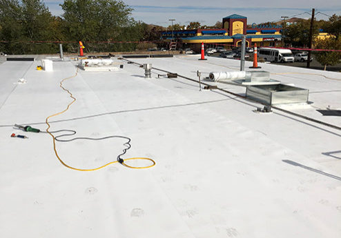 commercial building roofing